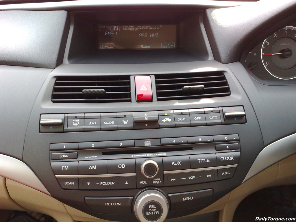 2008 Honda Accord Radio Display