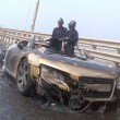 Audi R8 Caught in Flame in Mumbai, India